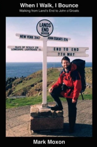 Mark Moxon as he sets out from Land's End to walk Britain end to end.