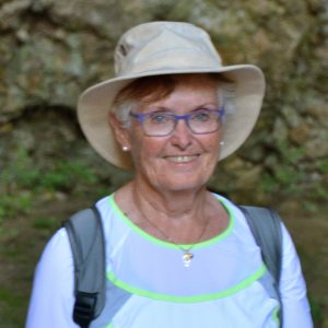 Barb Karasiuk on the trail in Croatia.